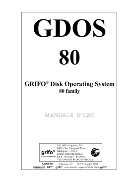 GRIFO® Disk Operating System