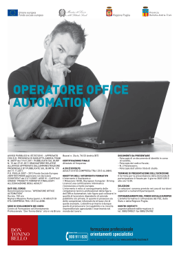 OPERATORE OFFICE AUTOMATION