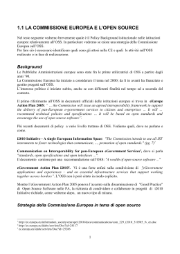 la commissione europea e l`open source
