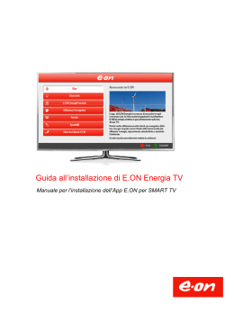 Guida all`installazione di E.ON Energia TV