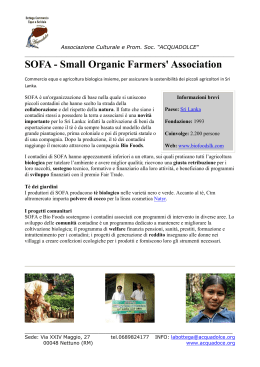 SOFA - Small Organic Farmers` Association