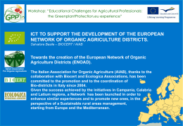 ict to support the development of the european network of organic