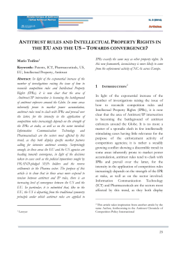 antitrust rules and intellectual property rights in the eu and the us