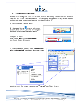 A. CONFIGURAZIONE WINDOWS XP Il computer va