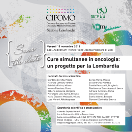 Save the date - Rete Oncologica Lombarda
