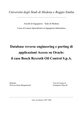 il caso Bosch Rexroth Oil Control SpA - DBGroup