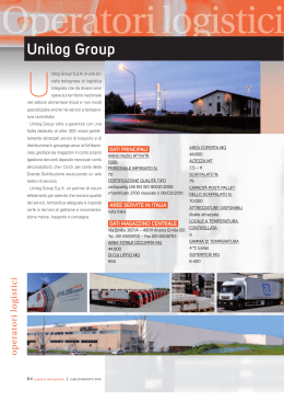Unilog Group - Logistica Management