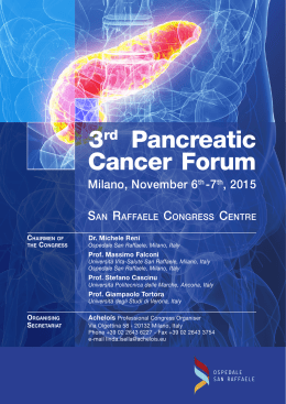 3rd Pancreatic Cancer Forum