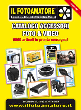 CATALOGO ACCESSORI FOTO & VIDEO