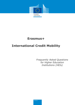 Erasmus+ International Credit Mobility [FAQs]