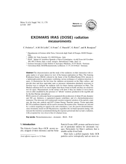 EXOMARS IRAS (DOSE) radiation measurements