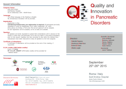 Quality and Innovation in Pancreatic Disorders