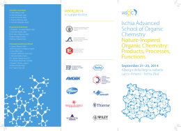 Ischia Advanced School of Organic Chemistry Nature