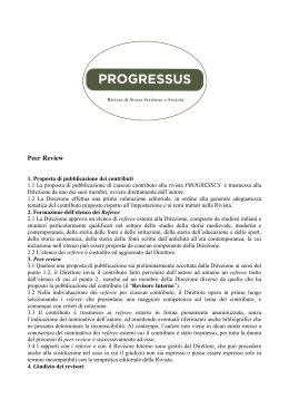 Peer Review - Rivista Progressus