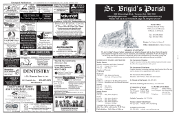 St. Brigid`s Parish - parishbulletins.com