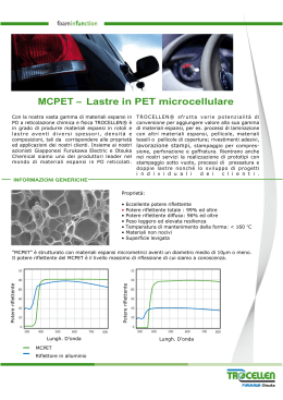 MCPET – Lastre in PET microcellulare