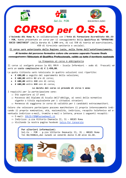 S Sol.Co. FOR CORSO per O.S.S.