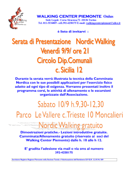 WALKING C WALKING CENTER PIEMONTE ENTER