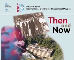 The Abdus Salam International Centre for Theoretical Physics