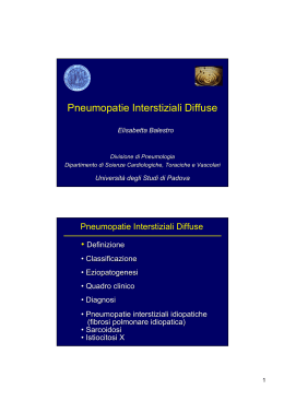 Pneumopatie Interstiziali Diffuse