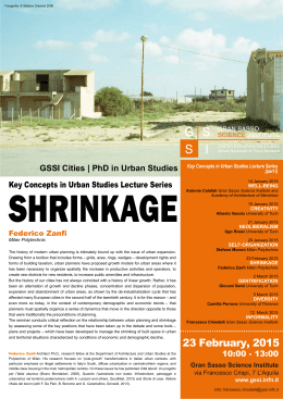 the poster - Gran Sasso Science Institute