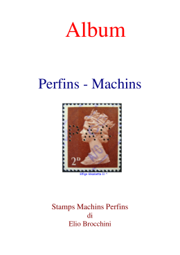 Perfins - Machins