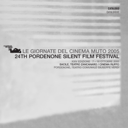 LE GIORNATE DEL CINEMA MUTO 2005 24TH PORDENONE