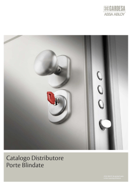Catalogo Distributore Porte Blindate