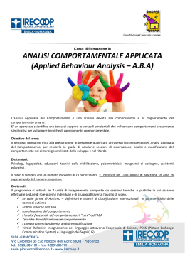 Applied Behaviour Analysis – ABA