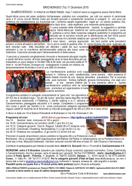 BRICHERASIO (To) 11 Dicembre 2015