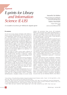 E-prints for Library and Information Science (E-LIS)