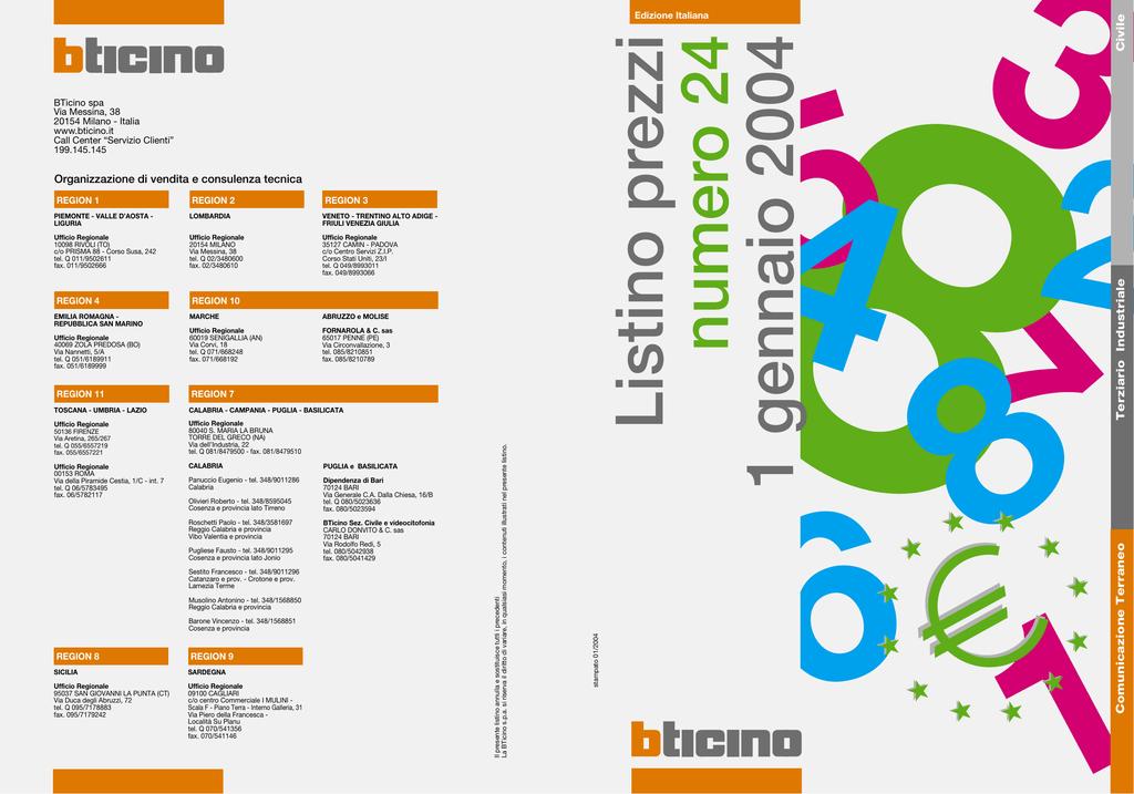 Bticino CBC232//52 PRESA INTERB COMP QUAD IP55 32A 2P+T 230V