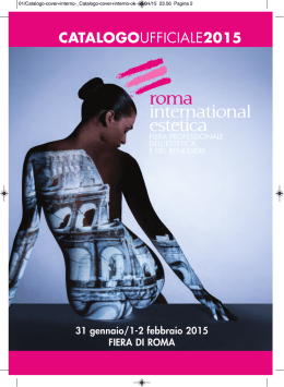 CATALOGOUFFICIALE2015 - Roma International Estetica