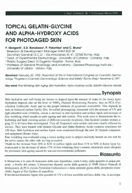 Topical gelatin-glycine and alpha-hydroxy acids for photoaged skin