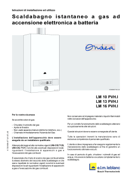 Scaldabagno istantaneo a gas con generatore a turbina hdg ed - Scaldabagno istantaneo ...