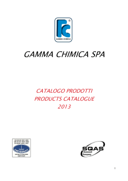 NEW CATALOGO new - Gamma Chimica SpA