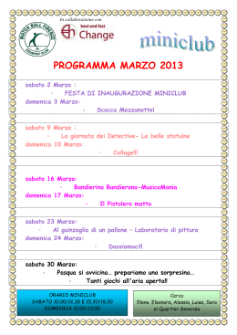 Programma Marzo.odt - Match Ball Firenze