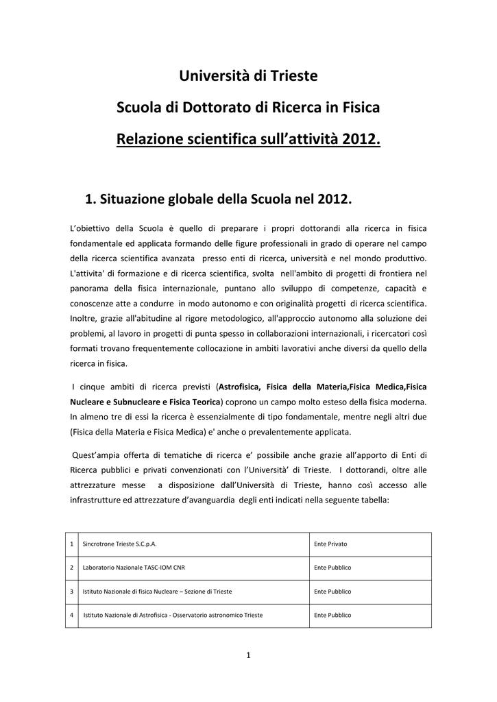 Relazione Direttore 2012 - Department of Physics EXTRA