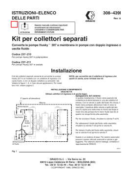 308439a , Kit per collettori separati