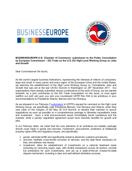 BUSINESSEUROPE-U.S. Chamber of Commerce