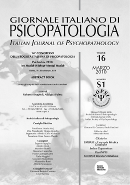 MARZO 2010 - Journal of Psychopathology