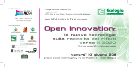 Open Innovation: - Provincia di Reggio Emilia