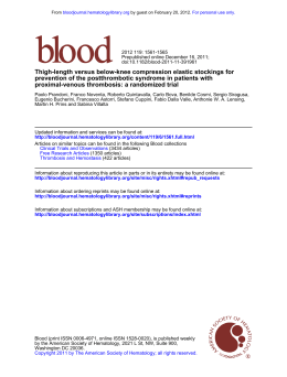proximal-venous thrombosis: a randomized trial prevention of the