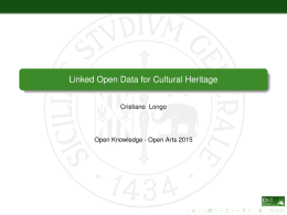 Linked Open Data for Cultural Heritage