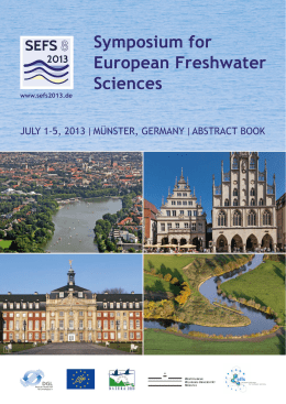 Book of Abstracts - EFFS European Federation for Freshwater