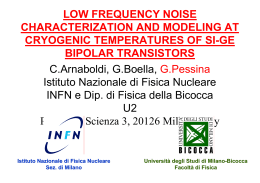 LOW FREQUENCY NOISE CHARACTERIZATION AND