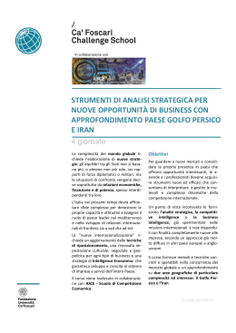 strumenti di analisi strategica per nuove opportunità di business con