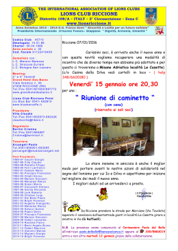 Meeting - Lions Club Riccione
