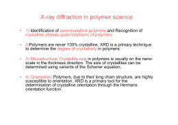 X-ray diffraction in polymer science