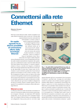 Connettersi alla rete Ethernet